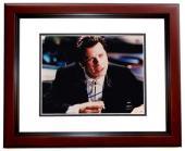 John Travolta Signed - Autographed PULP FICTION 8x10 inch Photo MAHOGANY CUSTOM FRAME - Guaranteed to pass PSA or JSA