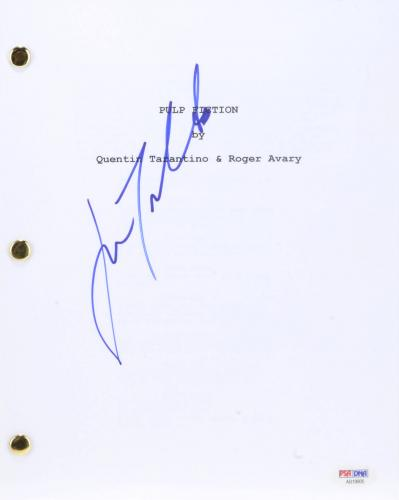 John Travolta Autographed Pulp Fiction Replica Movie Script - PSA/DNA