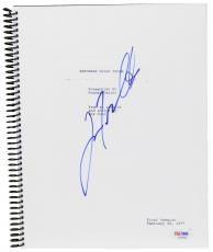 John Travolta Autographed Saturday Night Fever Replica Movie Script - PSA/DNA