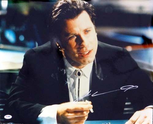 John Travolta Autographed Signed 16x20 Photo Pulp Fiction PSA/DNA #T14489