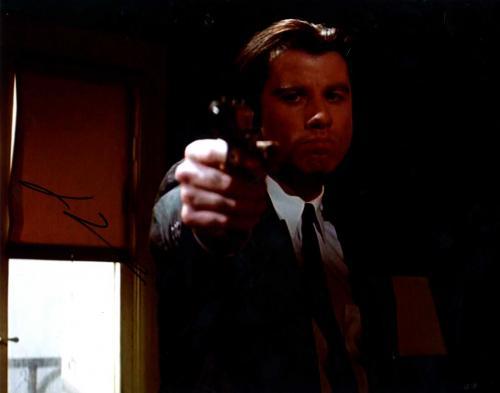 John Travolta Autographed Signed 8x10 Pulp Fiction Photo AFTAL UACC RD COA