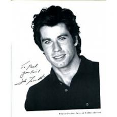 John Travolta Autographed / Signed Black & White 8x10 Photo