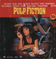 John Travolta Autographed Signed Pulp Fiction Ld cover AFTAL
