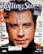 John Travolta Autographed Signed Rolling Stone Magazine PSA/DNA #V56022