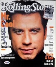 John Travolta Autographed Signed Rolling Stone Magazine PSA/DNA #V56023