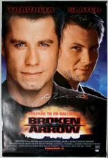 John Travolta & Christian Slater Broken Arrow Signed 27X40 Poster PSA #J00748
