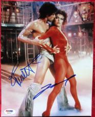John Travolta Finola Hughes Staying Alive 2x signed 8x10 photo PSA/DNA