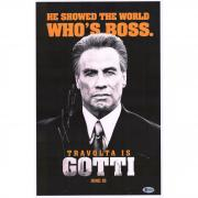 "John Travolta Gotti Autographed 12"" x 18"" Movie Poster - BAS"