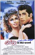 """John Travolta Grease Autographed 12"""" x 18"""" Movie Poster"""