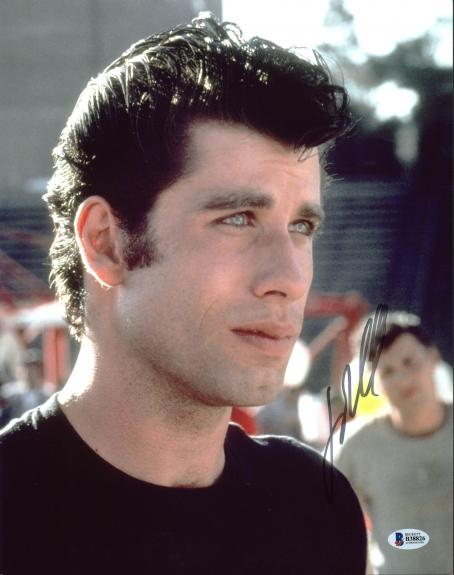 John Travolta Grease Signed 11X14 Photo Autographed BAS #B38826