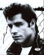 John Travolta Grease Signed 8X10 Photo Autographed PSA/DNA #AC17289