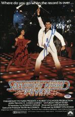 John Travolta & Karen Lynn Gorney Signed Saturday Night Fever Poster Psa U04647