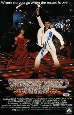 John Travolta & Karen Lynn Gorney Signed Saturday Night Fever Poster Psa U04650