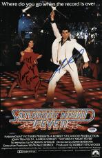 John Travolta & Karen Lynn Gorney Signed Saturday Night Fever Poster Psa U04653