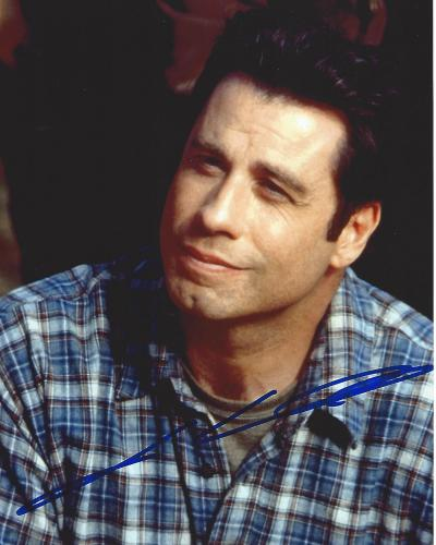 "JOHN TRAVOLTA -  Movies Include ""PULP FICTION"", ""GREASE"", and ""WILD HOGS"" Signed 8x10 Color Photo"