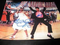 JOHN TRAVOLTA OLIVIA NEWTON JOHN SIGNED AUTOGRAPH 8x10 GREASE PROMO IN PERSON X3