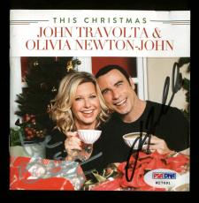 John Travolta & Olivia Newton-John Signed CD Insert W/ Disc PSA/DNA #W27691