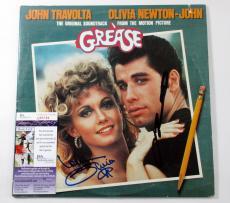 John Travolta & Olivia Newton-John Signed Soundtrack Album Grease 2 JSA AUTOS