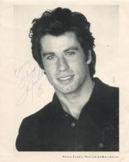 JOHN TRAVOLTA PERSONALIZED CREASED 1988  SIGNED AUTOGRAPHED 8x10 PHOTO W/COA