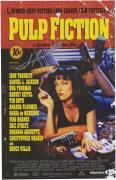 "John Travolta Pulp Fiction Autographed 12"" x 18"" Movie Poster"