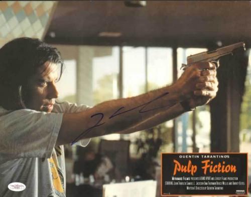 JOHN TRAVOLTA (Pulp Fiction) signed 11x14 Lobby Card  -JSA #F87901