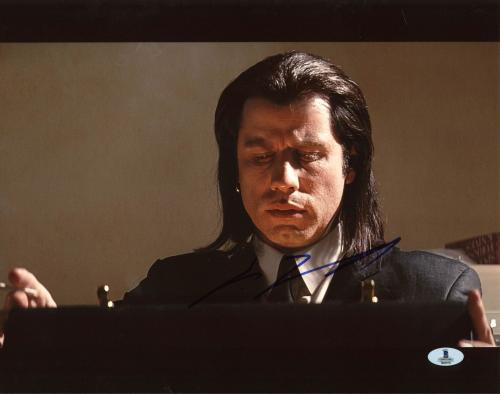 John Travolta Pulp Fiction Signed 11X14 Photo Autographed BAS #B03576
