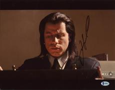 John Travolta Pulp Fiction Signed 11X14 Photo Autographed BAS #B38821