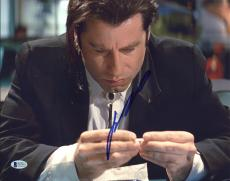 John Travolta Pulp Fiction Signed 11x14 Photo Autographed BAS #D17547