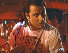 John Travolta Pulp Fiction Signed 11x14 Photo Autographed BAS #D17553