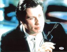 John Travolta Pulp Fiction Signed 11X14 Photo PSA/DNA #I27999