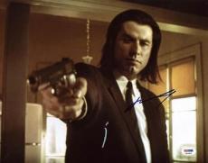 John Travolta Pulp Fiction Signed 11x14 Photo Psa/dna #x34894