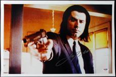 John Travolta Pulp Fiction Signed 12X18 Photo PSA/DNA #T50452