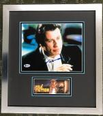 JOHN TRAVOLTA- PULP FICTION signed 8x10 custom framed display Beckett's COA