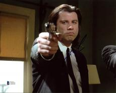 John Travolta Pulp Fiction Signed 8X10 Photo Autographed BAS #C19222