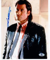 John Travolta Pulp Fiction signed 8x10 photo Beckett BAS Authentic autograph
