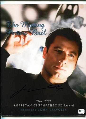 John Travolta Pulp Fiction Grease Star Signed Autograph Photo Award Program COA