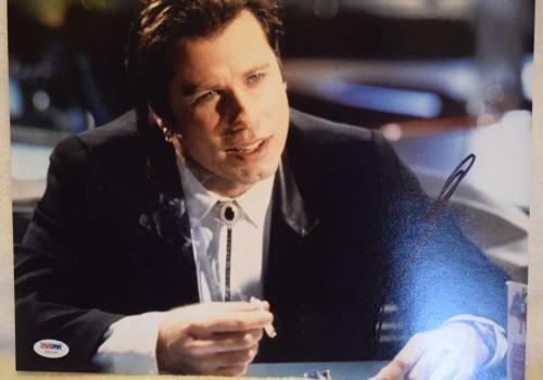 John Travolta Pulp Fiction Signed Psa/dna 11x14 Photo Authenticated Autograph