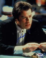 John Travolta Pulp Fiction Signed Psa/dna Cert 8x10 Photo Authentic Autograph