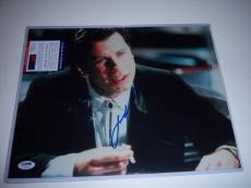 John Travolta Pulp Fiction,welcome Back Kotter Psa/dna Signed 11x14 Photo