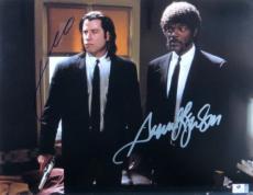 John Travolta Samuel L Jackson Dual Signed 11X14 Photo Pulp Fiction GV775895