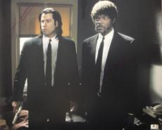 John Travolta Samuel L Jackson Dual Signed 16X20 Photo Pulp Fiction GA776186