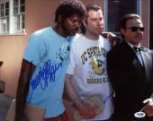 John Travolta & Samuel L Jackson Signed 11X14 Photo PSA/DNA #Q45288
