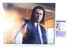 John Travolta Signed 11 x 14 Color Photo Pose #1 Pulp Fiction JSA Auto