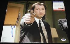 John Travolta signed 11 x 14, Pulp Fiction, Face/Off, Greese, PSA/DNA AA25543