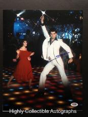 John Travolta Signed 11x14 Photo Autograph Psa Dna Coa Saturday Night Fever