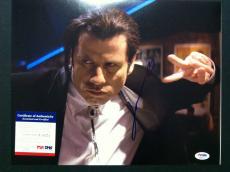 John Travolta Signed 11x14 Photo Autograph Pulp Fiction Psa Dna Coa