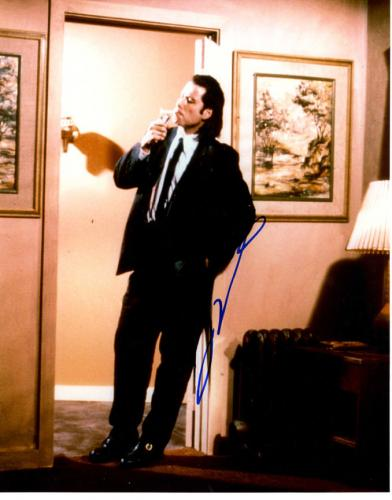 John Travolta Signed 11x14 Pulp Fiction Photo AFTAL UACC RD COA