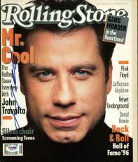 John Travolta Signed 1996 Rolling Stone Magazine PSA/DNA #W83772