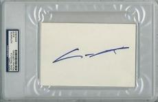 John Travolta Signed 4X6 Index Card Autographed PSA/DNA Slabbed