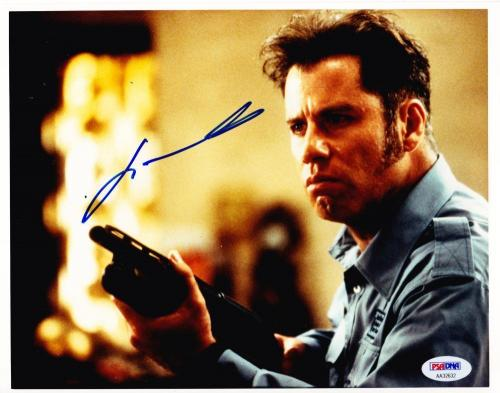 John Travolta Signed 8x10 Photo Pulp Fiction Authentic Autograph Psa/dna Coa B